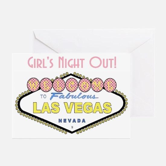 Las Vegas Girl's Night Our! Cards Pk of 10