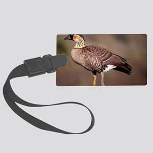 Hawaiian goose Large Luggage Tag