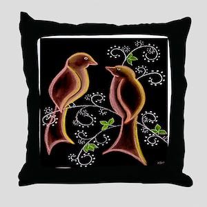 love birds shower curtain Throw Pillow