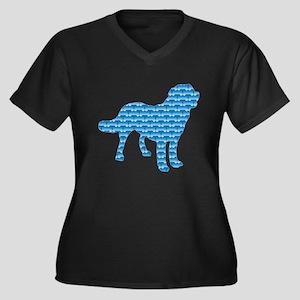 Bone Chinook Women's Plus Size V-Neck Dark T-Shirt