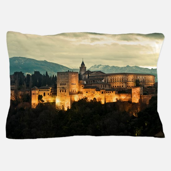 Alhambra Palace at Dusk Pillow Case