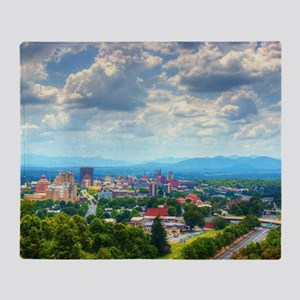 Asheville, North Carolina skyline ne Throw Blanket