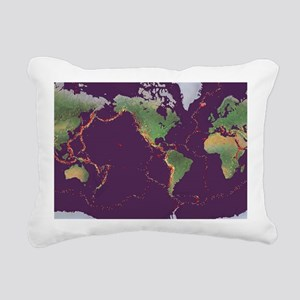 Earth's volcanoes and ea Rectangular Canvas Pillow