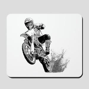 Dirtbike Wheeling in Mud Mousepad