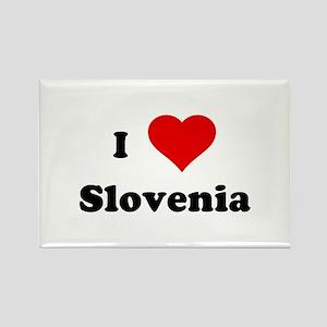 I Love Slovenia Rectangle Magnet