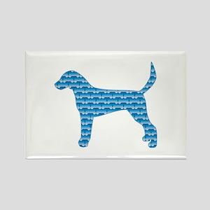 Bone Foxhound Rectangle Magnet