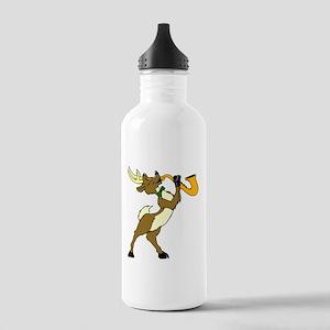 Reindeer And Saxophone Water Bottle
