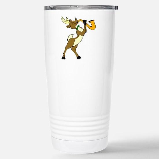 Reindeer And Saxophone Mugs