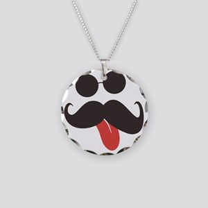 Mustache and Sunglasses Necklace Circle Charm