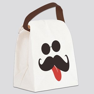 Mustache and Sunglasses Canvas Lunch Bag