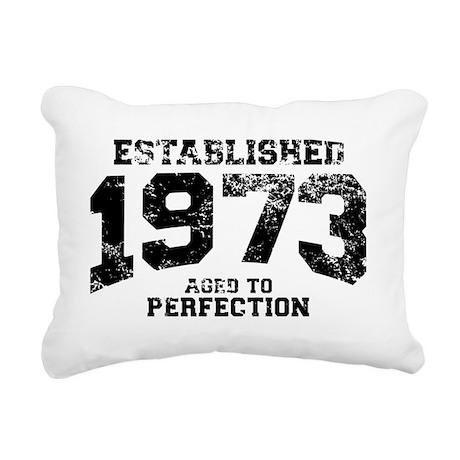 Established 1973 - Aged Rectangular Canvas Pillow