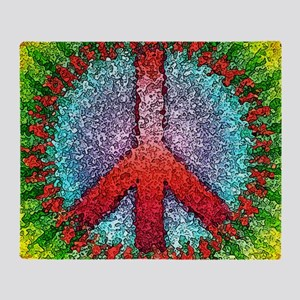 Abstract Peace Sign Throw Blanket