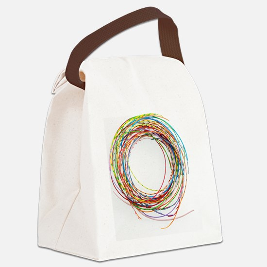 Electrical wires Canvas Lunch Bag