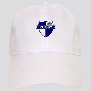 Rugby Shield White Blue Cap