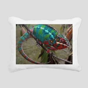 Red Blue and Green Panth Rectangular Canvas Pillow