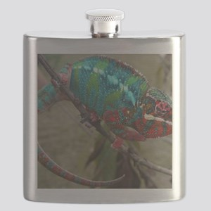 Red Blue and Green Panther Chameleon Flask
