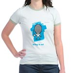 Moody little fencing characte Jr. Ringer T-Shirt