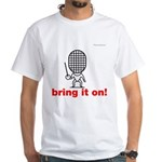 Moody little fencing characte White T-Shirt