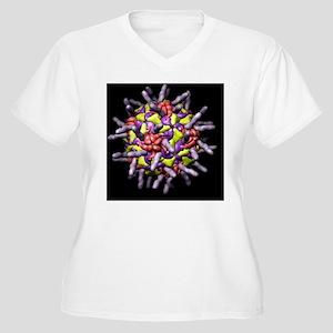 Human rhinovirus, Women's Plus Size V-Neck T-Shirt
