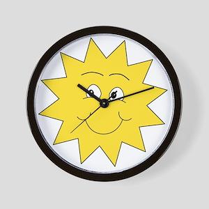 Yellow Happy Sunshine. Wall Clock