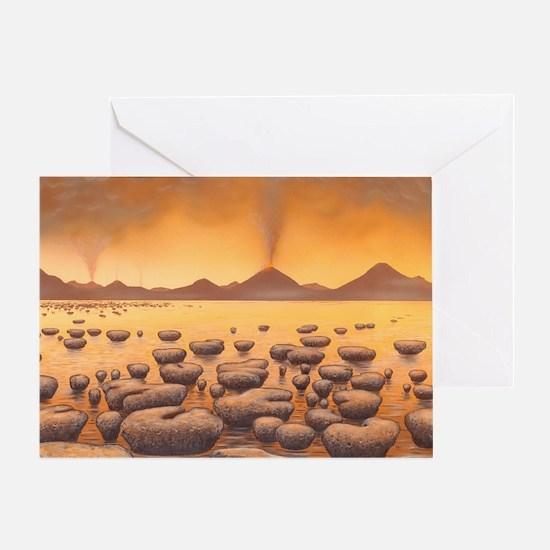 Early stromatolites, artwork Greeting Card