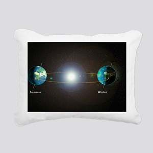 Earth's seasons Rectangular Canvas Pillow