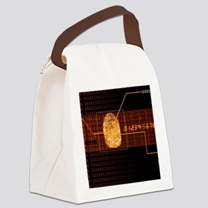 Fingerprint scanning Canvas Lunch Bag
