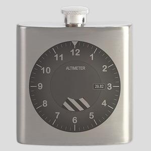 Altimeter Wall Clock Flask
