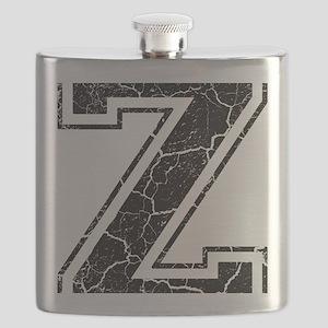 Letter Z in black vintage look Flask
