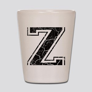 Letter Z in black vintage look Shot Glass