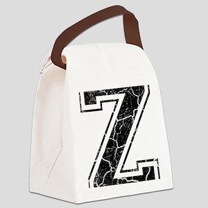 Letter Z in black vintage look Canvas Lunch Bag