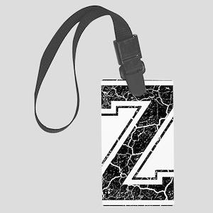 Letter Z in black vintage look Large Luggage Tag