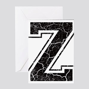 Letter Z in black vintage look Greeting Card