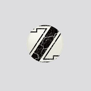 Letter Z in black vintage look Mini Button