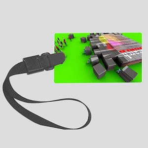 Electronic publishing Large Luggage Tag