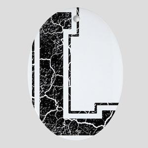 Letter L in black vintage look Oval Ornament