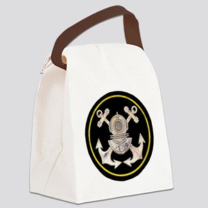 3-Bolt Dive Helmet and Anchors Canvas Lunch Bag