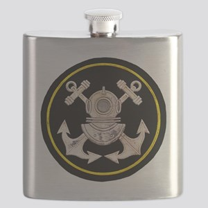 3-Bolt Dive Helmet and Anchors Flask