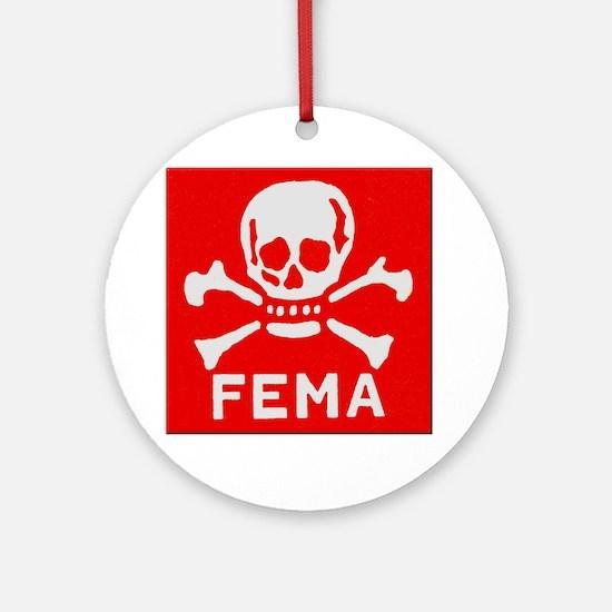 FEMA Round Ornament
