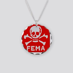 FEMA Necklace Circle Charm