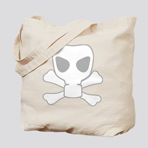 Gas Mask Skull Tote Bag