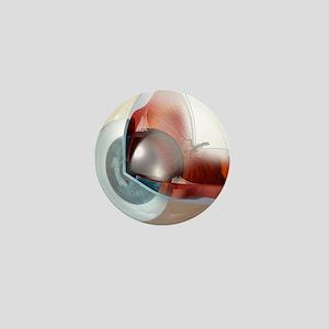 Eye anatomy, artwork Mini Button