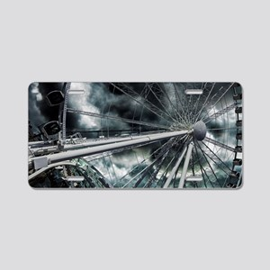 The Wheel and The Storm Aluminum License Plate