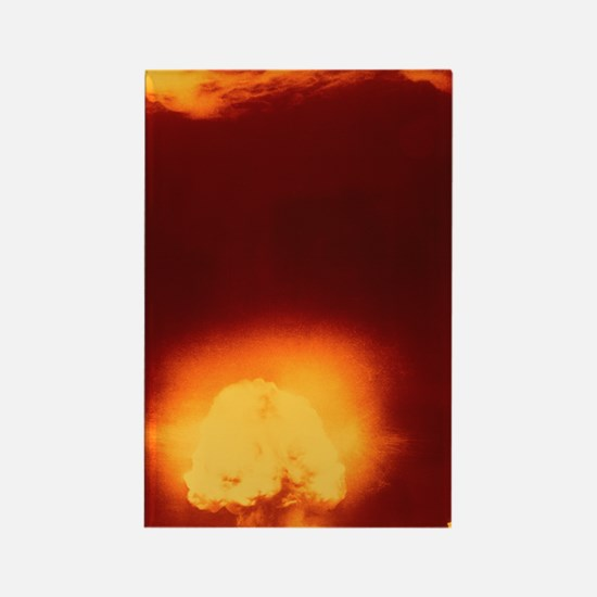 First atomic explosion at Los Ala Rectangle Magnet