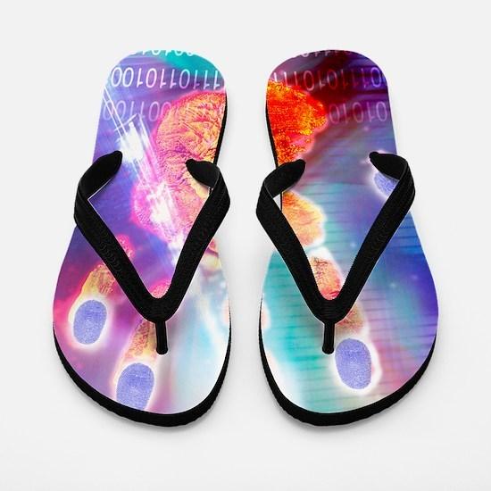 Hand biometrics Flip Flops