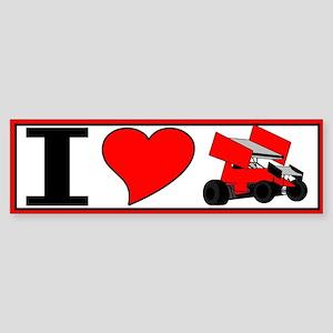 """10x3 I """"heart"""" sprint Bumper Sticker"""