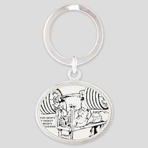 LIFT HEAVY Oval Keychain