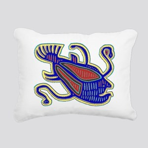 DEVILFISH MOLA DESIGN Rectangular Canvas Pillow