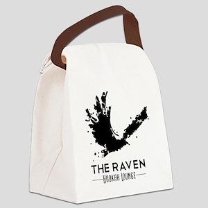 The Raven Hookah Lounge - Black L Canvas Lunch Bag