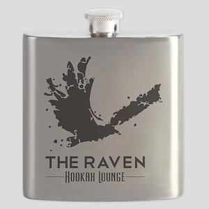 The Raven Hookah Lounge - Black Logo Flask